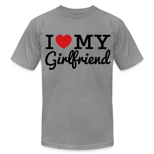 I Love My Gf - Men's Fine Jersey T-Shirt