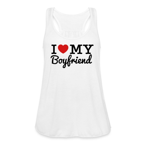 I Love My Bf - Women's Flowy Tank Top by Bella