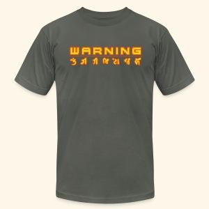 W A R N I N G (back- and frontprint) - Men's Fine Jersey T-Shirt