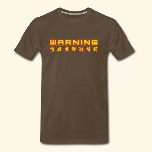 W A R N I N G (back- and frontprint) - Men's Premium T-Shirt