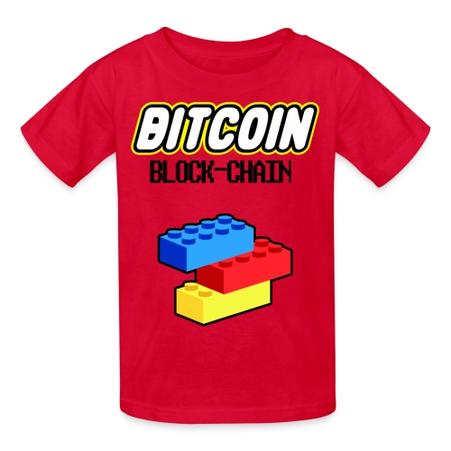 Kids Bitcoin Lego BlockChain T Shirt - Kids' T-Shirt
