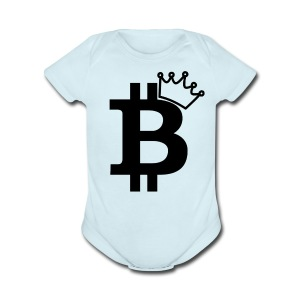 Baby Bitcoin 100% Soft Cotton - Short Sleeve Baby Bodysuit