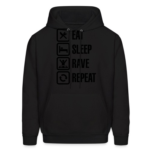Eat Sleep Rave Repeat hoodie - Men's Hoodie
