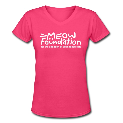 MEOW Foundation V-Neck Tee - Women's V-Neck T-Shirt