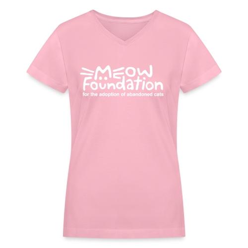 MEOW Foundation V-Neck Tee - Women's V-Neck T-Shirt