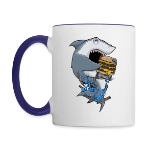 Hungry Shark Mug - Contrast Coffee Mug