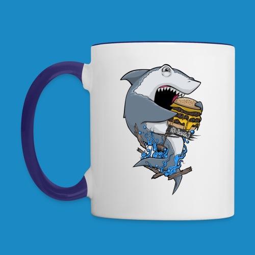 Hungry Shark Mug - Contrast Coffee Mug