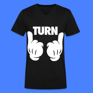 Turn Up Hands T-Shirts - Men's V-Neck T-Shirt by Canvas