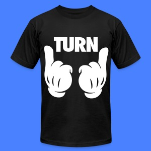 Turn Up Hands T-Shirts - Men's T-Shirt by American Apparel