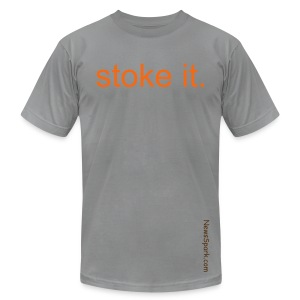 Stoke it, M, Slate - Men's Fine Jersey T-Shirt