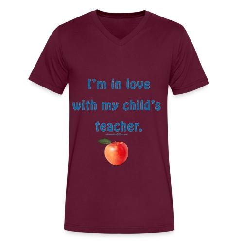 Dad Loves Homeschooling Teacher - Men's V-Neck T-Shirt by Canvas