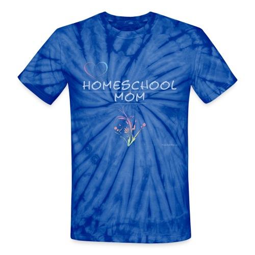 Homeschool Mom Floral - Unisex Tie Dye T-Shirt