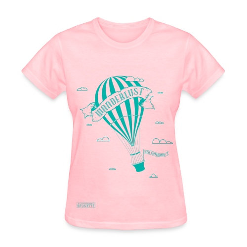 Hot Air Balloon-Blue - Women's T-Shirt