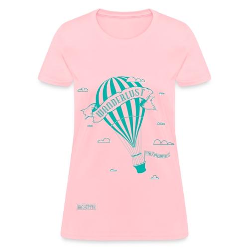 Hot Air Balloon-Blue - Women's T-Shirt
