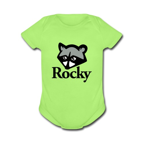 Rocky Raccoon - Organic Short Sleeve Baby Bodysuit