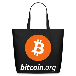 Bitcoin Logo Tote Bag - Eco-Friendly Cotton Tote