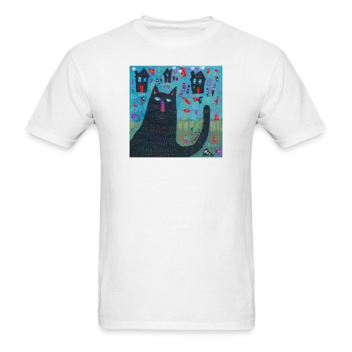 Where Do You Live Little Black Cat Classic Tee - Men's T-Shirt