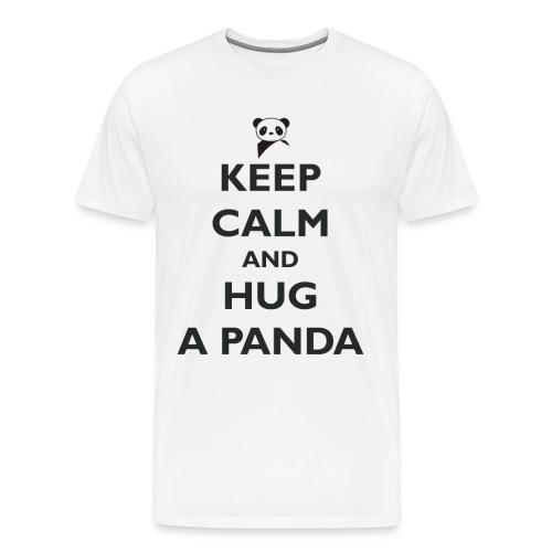 Keep Calm and Hug a Panda - Men's Premium T-Shirt
