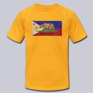 Filipino Republic California Flag - Men's T-Shirt by American Apparel