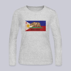 Filipino Republic California Flag - Women's Long Sleeve Jersey T-Shirt