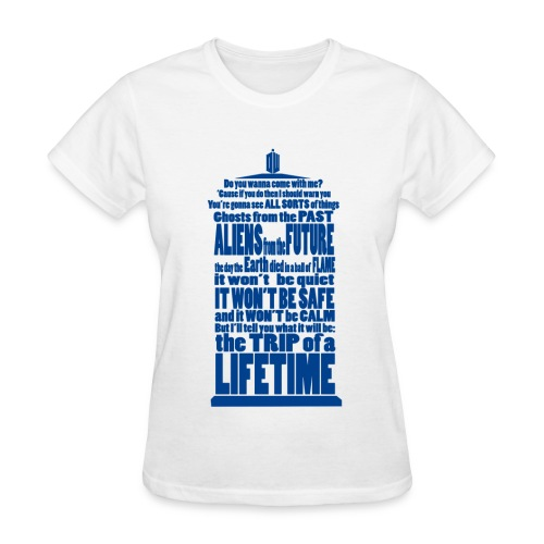 Dr Who Quote Tardis - Women's T-Shirt