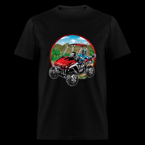 Mountain Side-x-Side - Men's T-Shirt