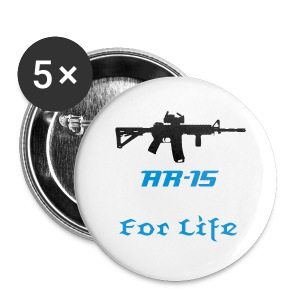 AR-15 For Life Button - Small Buttons