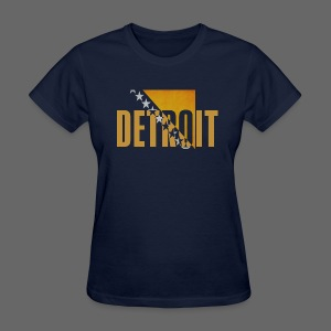 Detroit Bosnian Flag - Women's T-Shirt