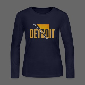 Detroit Bosnian Flag - Women's Long Sleeve Jersey T-Shirt