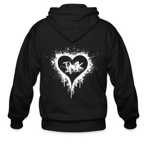 I Love Ink white - Men's Zip Hoodie