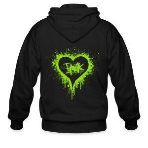 I Love Ink green - Men's Zip Hoodie