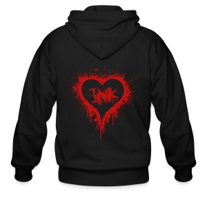 I Love Ink red - Men's Zip Hoodie