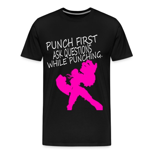 Punch First - Vi Mens - Men's Premium T-Shirt