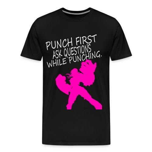 Punch First - Vi Mens - Men's Premium T-Shirt