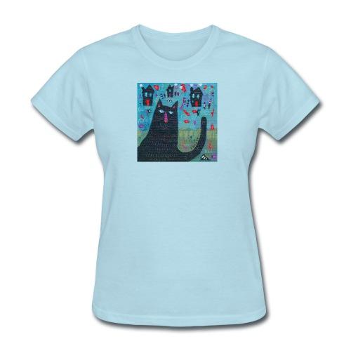 Where Do You Live Little Black Cat Classic Tee - Women's T-Shirt