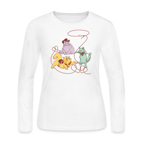 Rodeo Cats Long Sleeve Shirt - Women's Long Sleeve Jersey T-Shirt