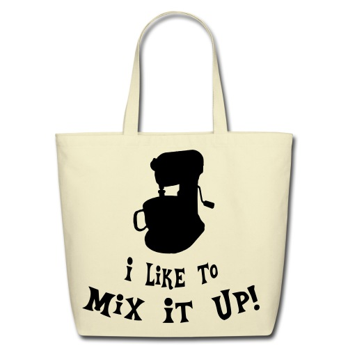 I like to mix it up bag - Eco-Friendly Cotton Tote