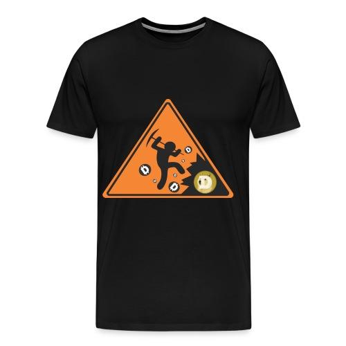 Dogecoin miner shirt front print - Men's Premium T-Shirt