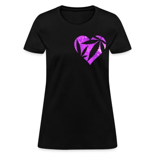 Marijuana Heart - Women's T-Shirt