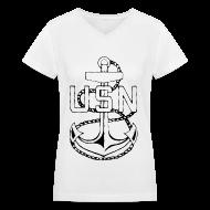 T-Shirts ~ Women's V-Neck T-Shirt ~ USN