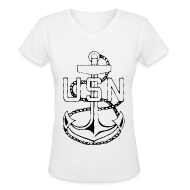 T-Shirts ~ Women's V-Neck T-Shirt ~ USN