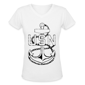 USN - Women's V-Neck T-Shirt