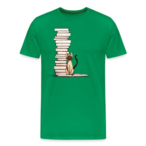 The Reader II Fitted Tee - Men's Premium T-Shirt
