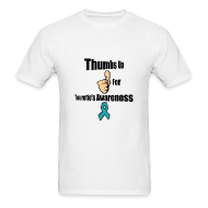 T-Shirts ~ Men's T-Shirt ~ Thumbs Up for Tourette's Awareness! Men's T-Shirt