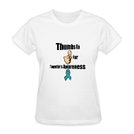 Women's T-Shirts ~ Women's T-Shirt ~ Thumbs Up for Tourette's Awareness! Womens T-Shirt