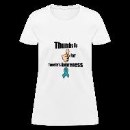 Women's T-Shirts ~ Women's T-Shirt ~ Thumbs Up for Tourette's Awareness! Womens T-Shirt