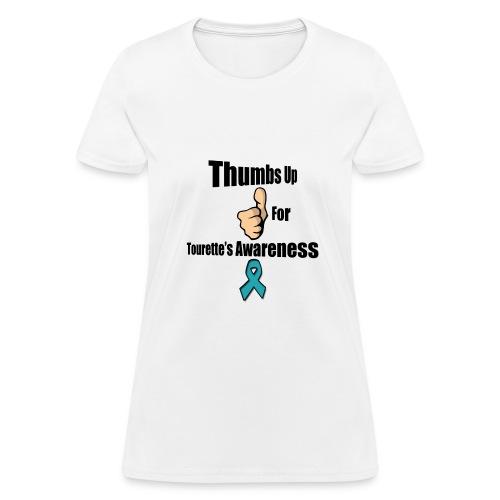Thumbs Up for Tourette's Awareness! Womens T-Shirt - Women's T-Shirt