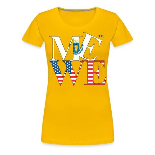 Me We Massachusetts Tee (women's) - Women's Premium T-Shirt