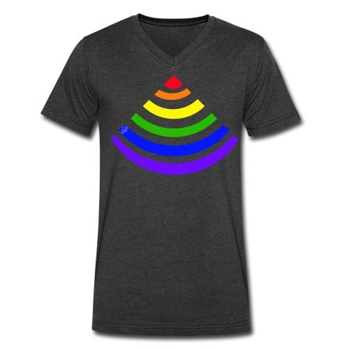 Rainbow Signal - Men's V-Neck T-Shirt by Canvas