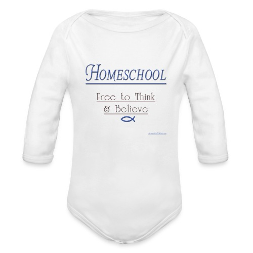 Homeschool Freedom - Organic Long Sleeve Baby Bodysuit